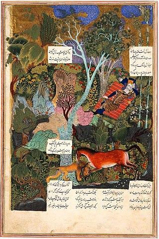 رستم در خواب اثر سلطان محمد