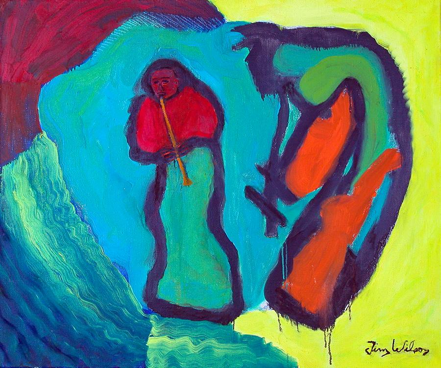 گاوباز و گاو باهم موسیقی مینوازند (تیم ویلسون)
