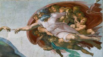 ۱. آفرینش آدم اثر میکل آنژ