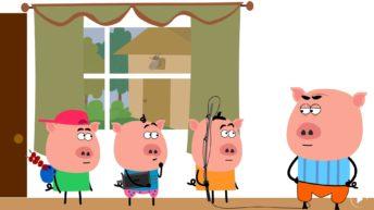 سه بچه خوک و بزبزقندی