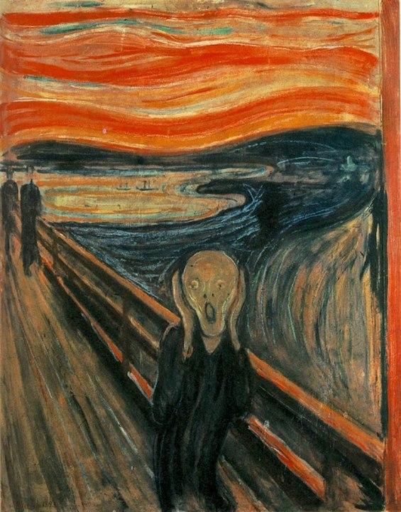 ۵. جیغ اثر ادوارد مونش
