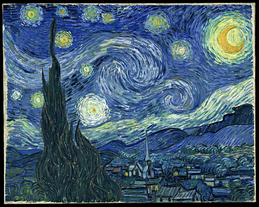 ۳. شب پر ستاره اثر ونسان ون گوگ